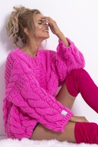Sweter CHUNKY KNIT F780 sweetpink