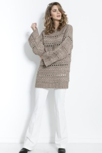 Sweter Chunky Knit F862 mocca