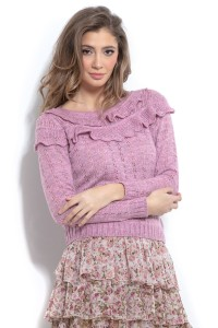 Sweter F961 lilac